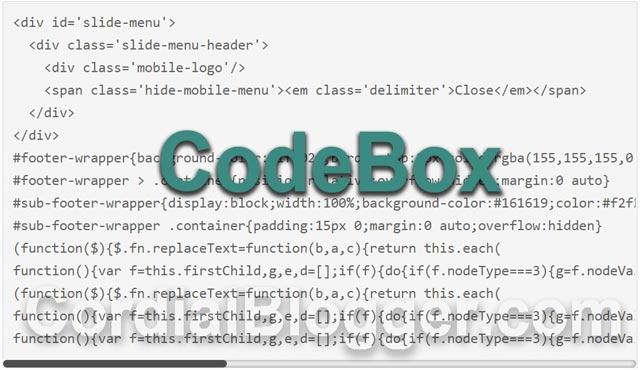 Cara Membuat CodeBox Menggunakan Pre Tag