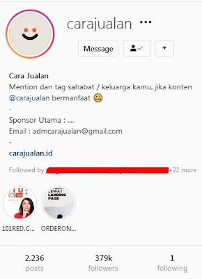 akun instagram tentang cara jualan