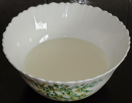 milk and sugar in a bowl