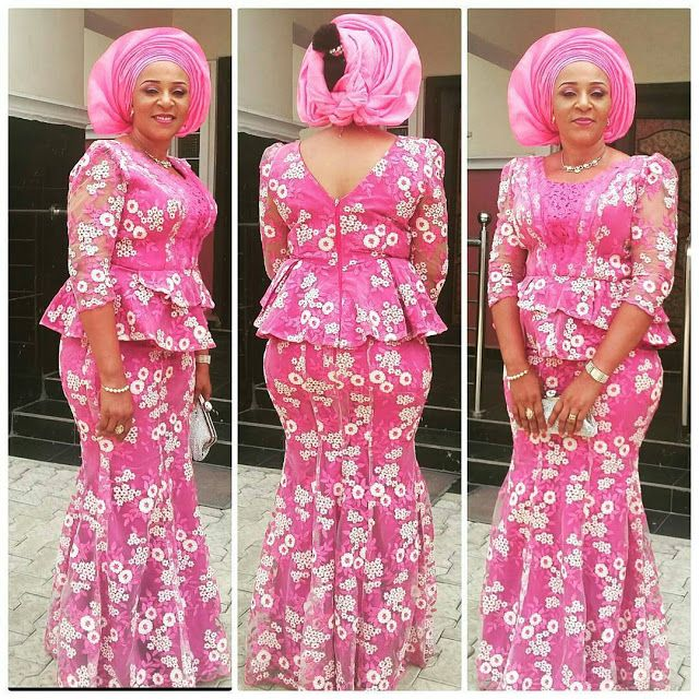 Beautiful Lace Skirt and Blouse Styles for Owambe Rockers