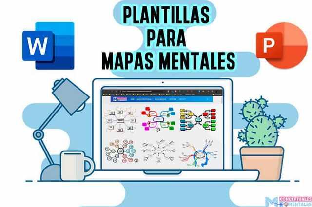 PLANTILLAS para MAPAS MENTALES en WORD y POWERPOINT GRATIS