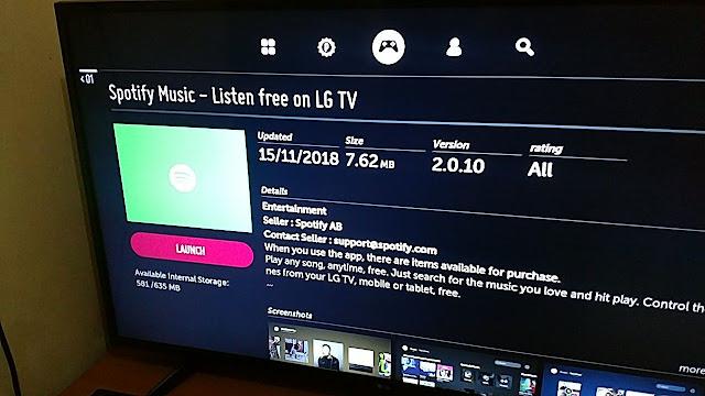 Hore! Spotify Gratis di LG Smart TV