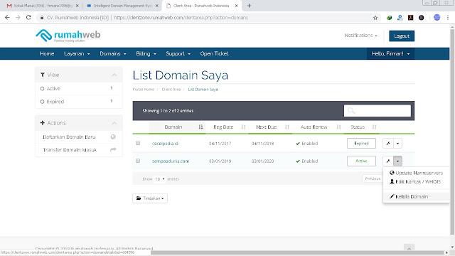 8 Langkah Cara Mengaktifkan Domain di Rumahweb
