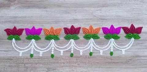 lotus flower border rangoli