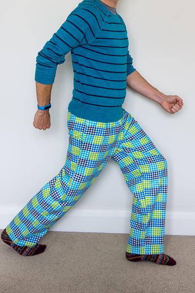 Simplicity 1605 flannel pyjama bottoms