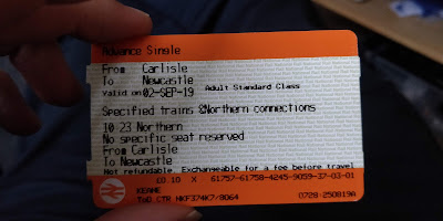10p advance single ticket from Carlisle to Newcastle.