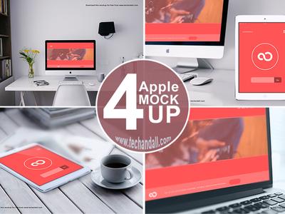 Apple Family Mockup PSD