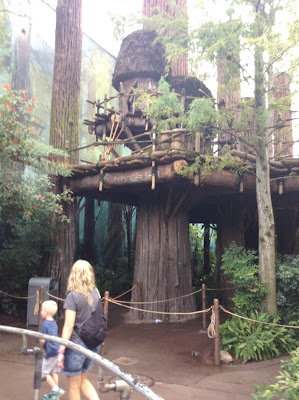 Ewok village outside star tours at Hollywood studios