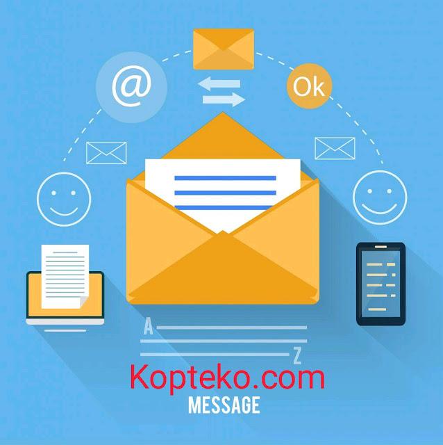Cara mengirim aplikasi lewat email