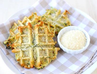 Parmesan and Zucchini Waffles Recipe