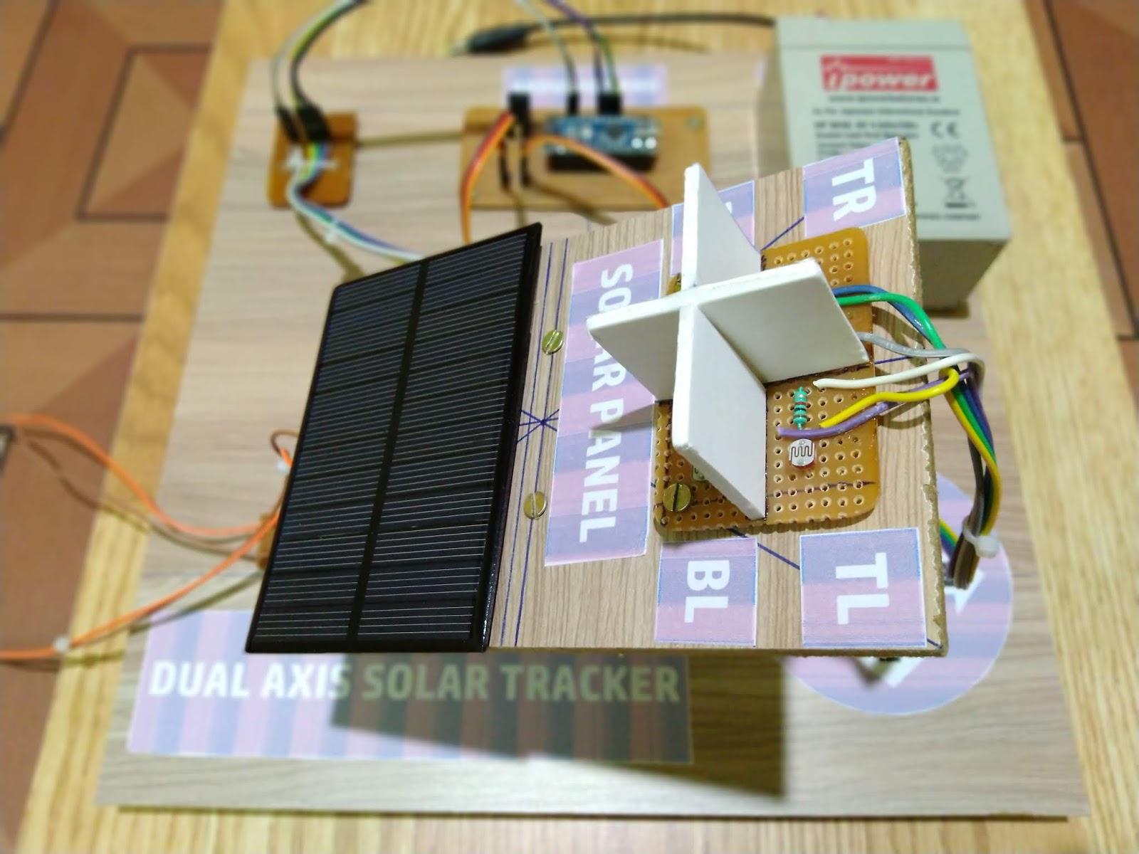 Dual Axis Solar Tracker using Arduino