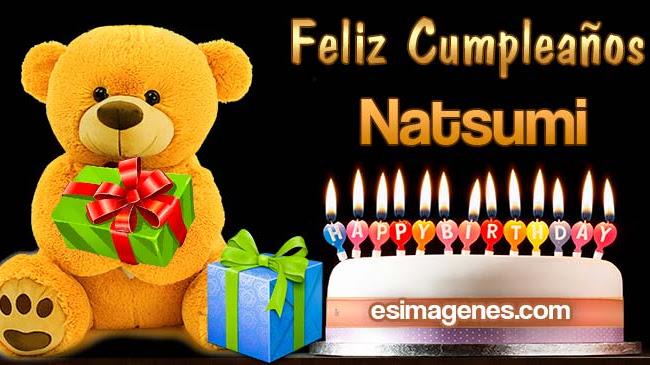 Feliz cumpleaños Natsumi