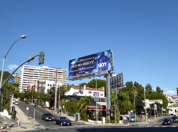 not so silent nights Skyy Vodka billboard