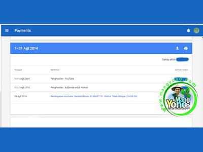 Pembayaran Google Adsense Bulan Agustus 2014.