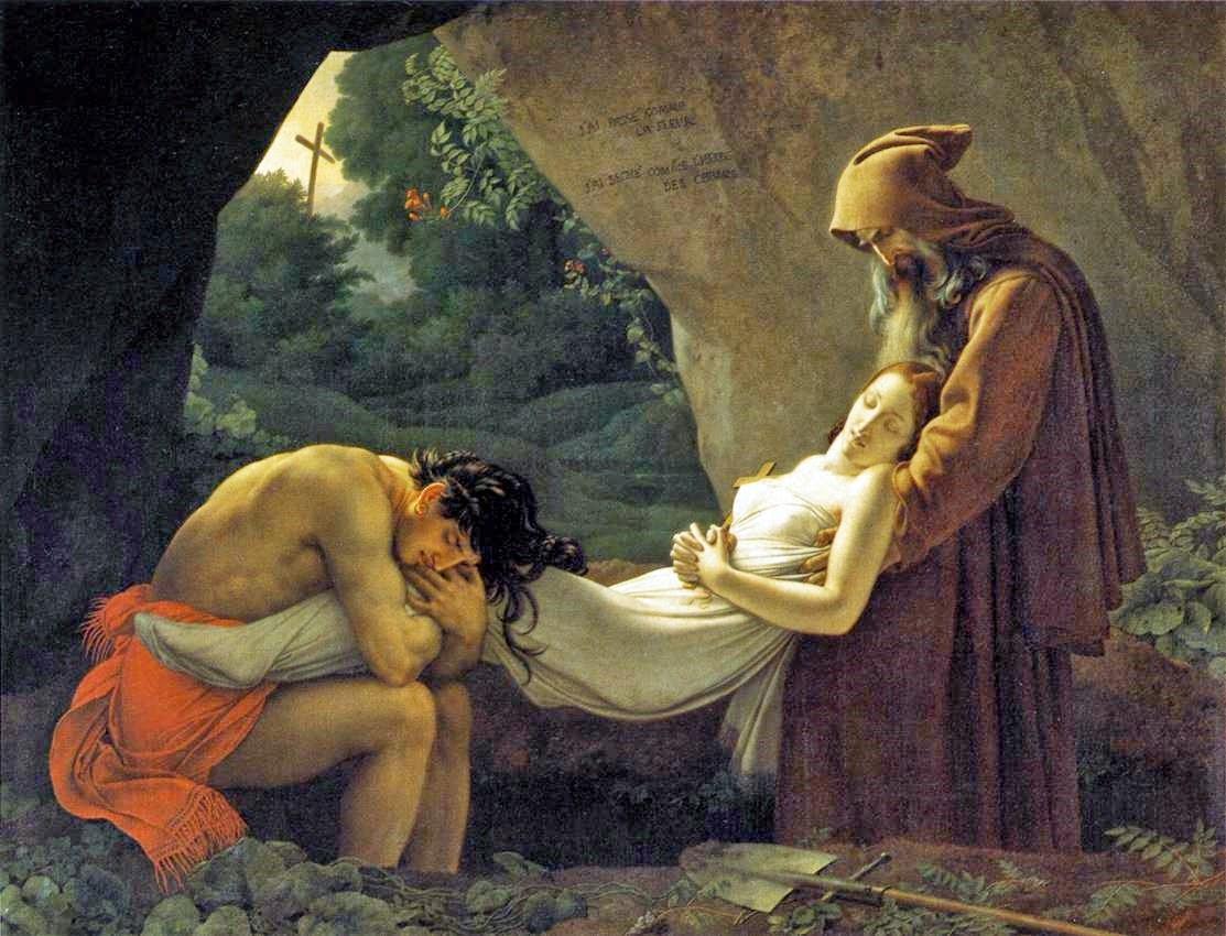 Anne-Louis Girodet, Atala portée au tombeau (1808)
