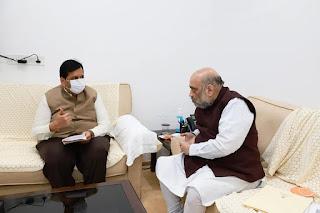 जिन्ना हाउस को अधिग्रहित करने के संदर्भ में गृहमंत्री अमित शाह से मिले मंगल प्रभात लोढ़ा   | #NayaSaberaNetwork