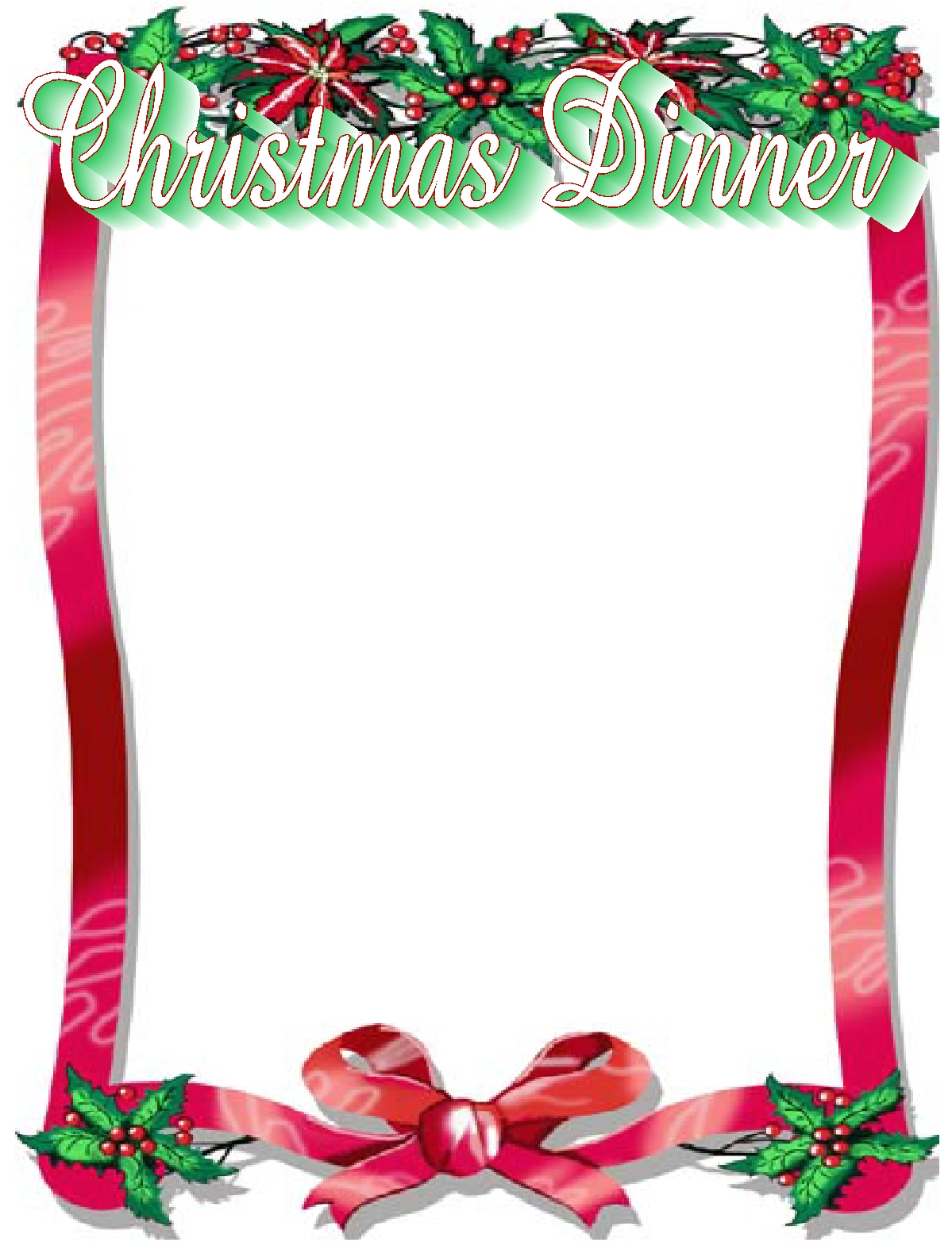 clipart christmas dinner pictures - photo #11