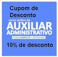 Cupom de Desconto Curso Online de Auxiliar Administrativo e Curso de Windows 10 Grátis Portal Jovem Empreendedor