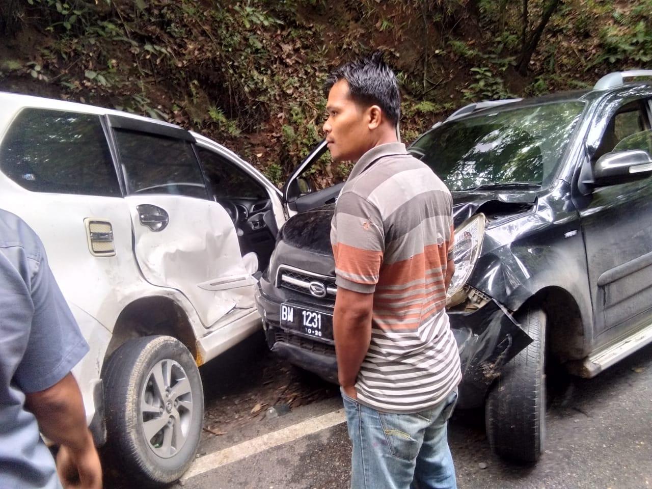Kecelakaan di jalan lintas Gunung tua- Padang Sidempuan
