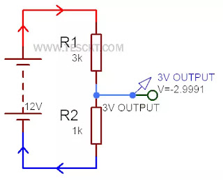 how to convert 12v to 3v using resistor
