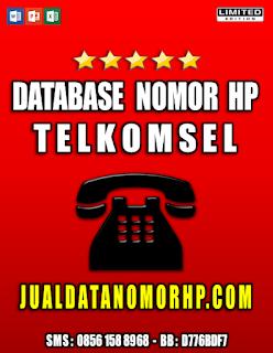 Jual Database Nomor Handphone Khusus Telkomsel