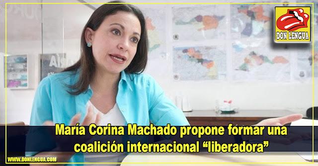 """María Corina Machado propone formar una coalición internacional """"liberadora"""""""
