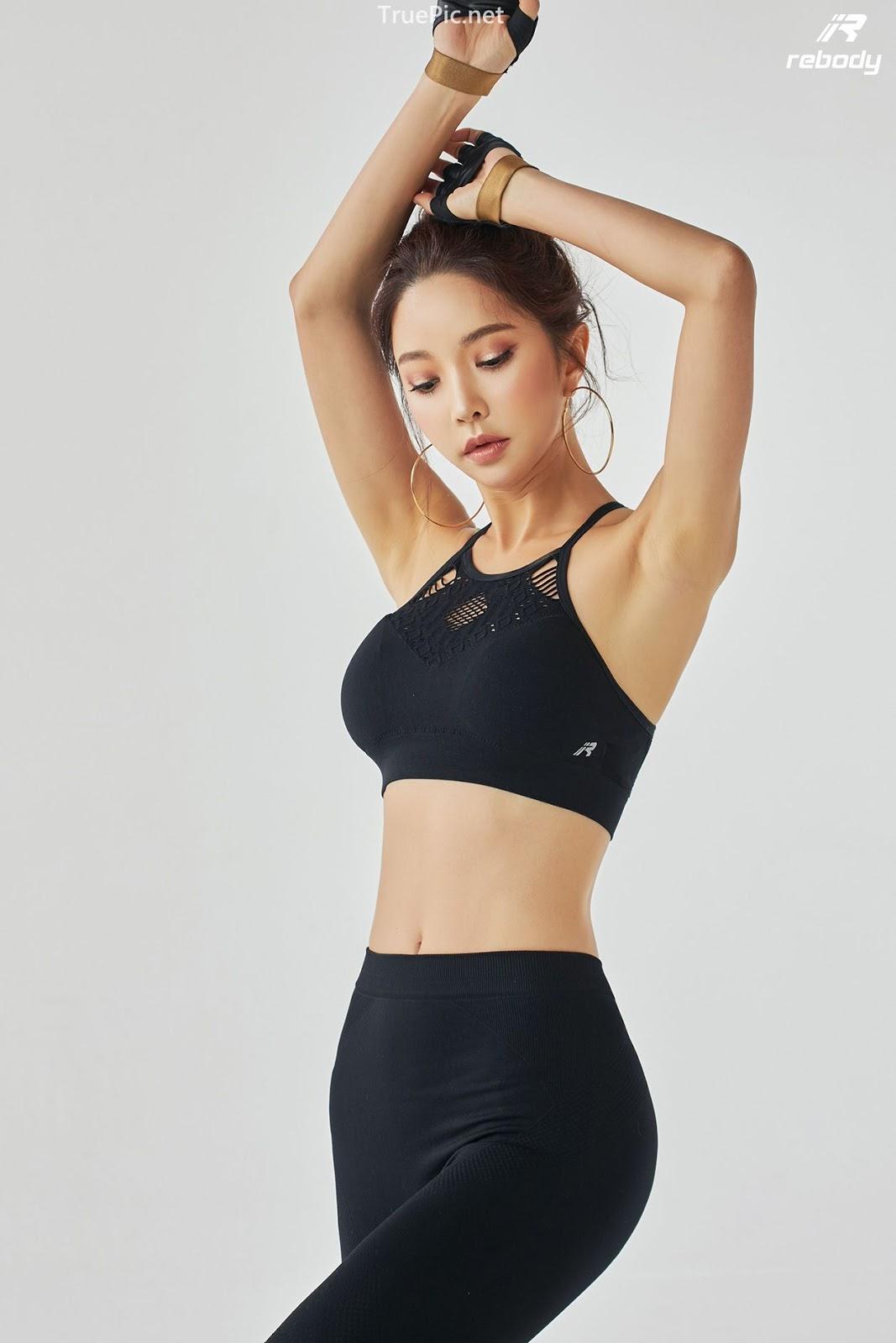 Park Soo Yeon - Sports Bra Fitness Set - Korean fashion model - Picture 1