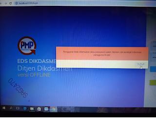 Tidak bisa login aplikasi eds setelah proses registrasi