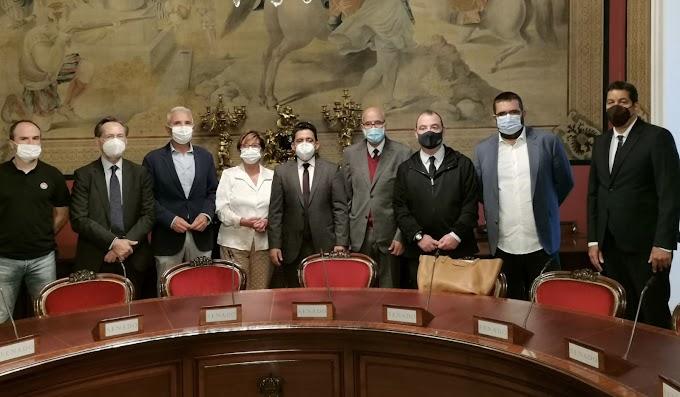 وفد صحراوي يستقبل في مجلس الشيوخ الاسباني