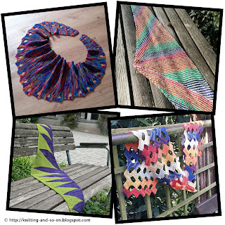 Free Patterns for knitted scarfs - by Knitting and so on