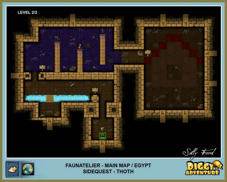 Diggy's Adventure Walkthrough: Egypt Main / Faunatelier Level 2
