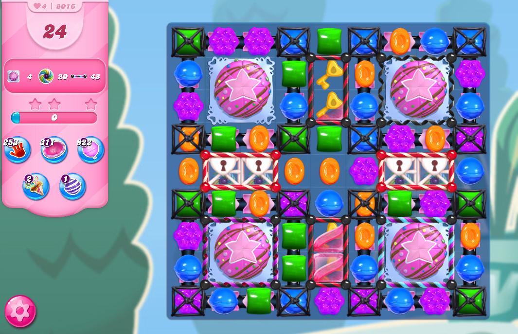 Candy Crush Saga level 8016