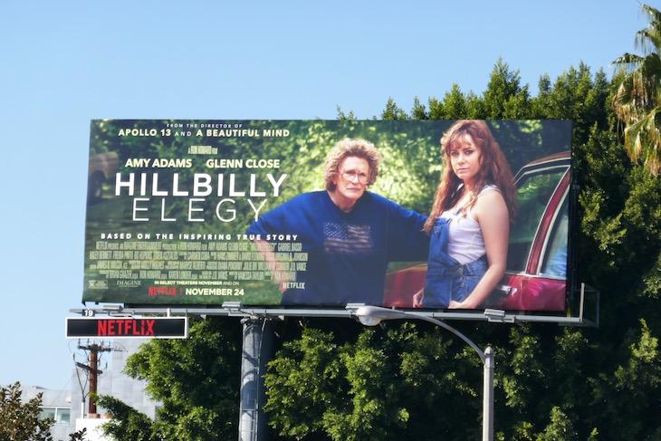 Hillbilly Elegy Netflix movie billboard