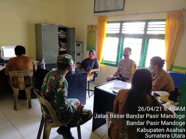 Dibulan Puasa, Personel Jajaran Kodim 0208/Asahan Laksanakan Komsos Dalam Pengawasan Penegakan Disiplin Protokol Kesehatan