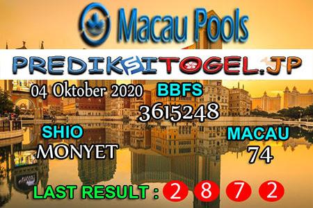 Prediksi Togel Wangsit Macau Pools Minggu