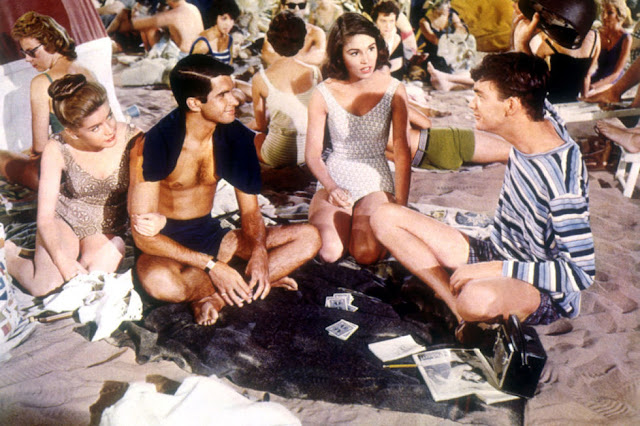 Dolores Hart, George Hamilton, Paula Prentiss and Jim Hutton in Where the Boys Are (1960)