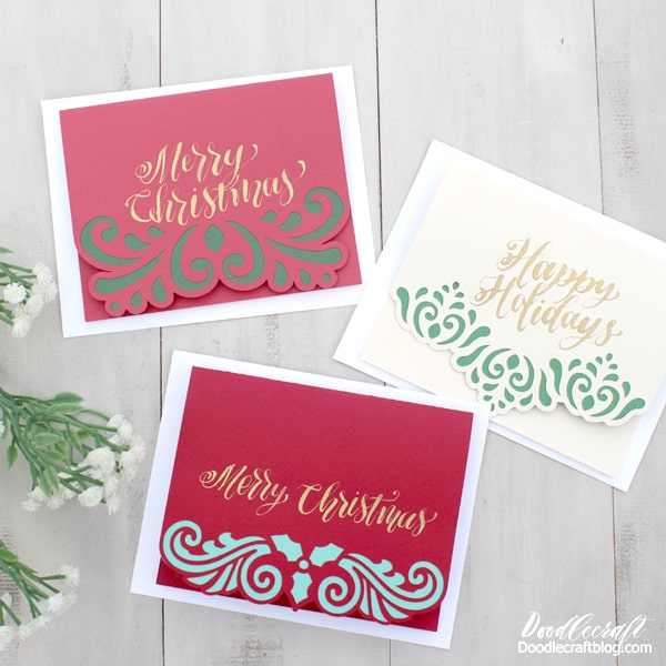 Filigree Christmas Cards