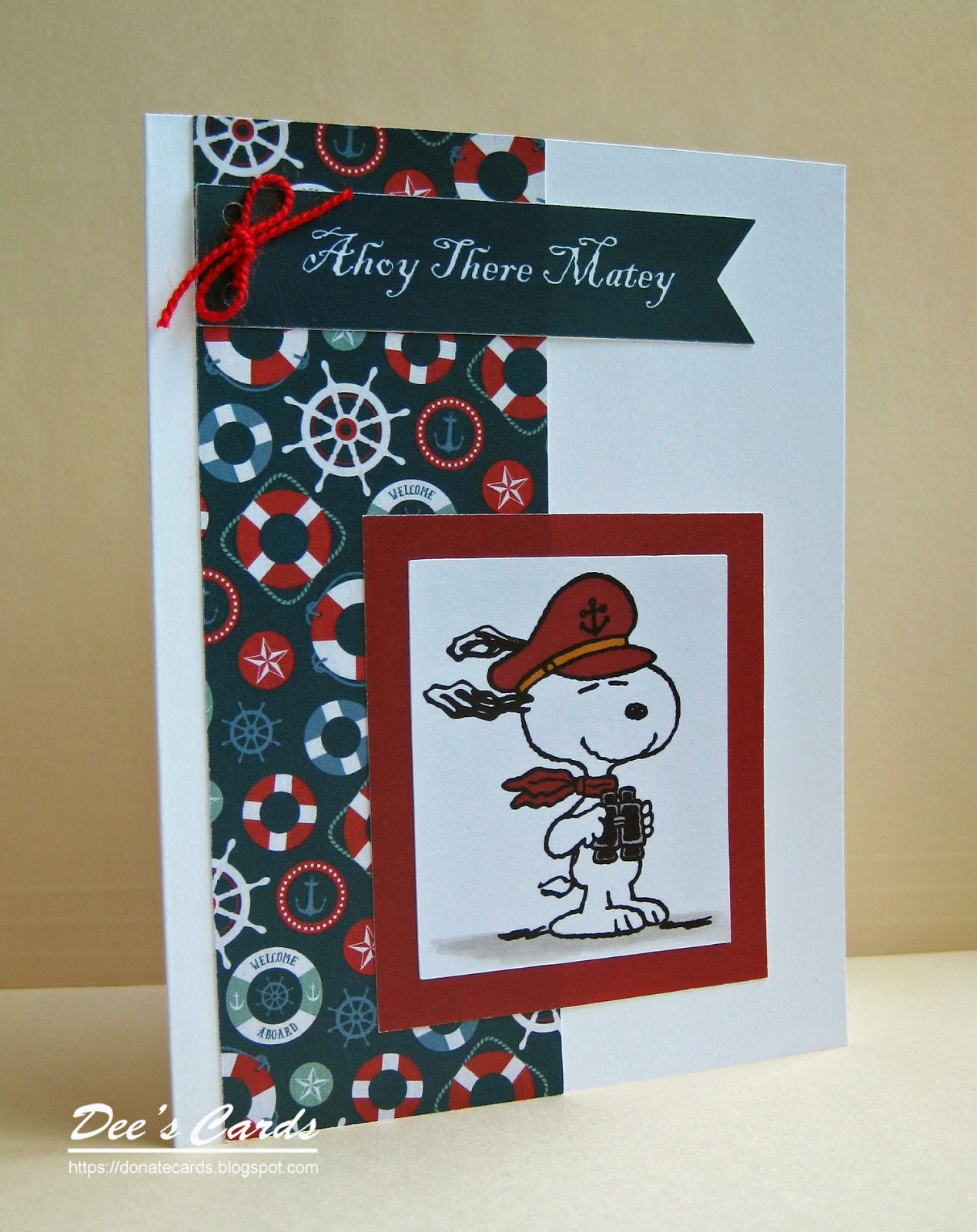 Dees Cards Nautical Snoopy Card