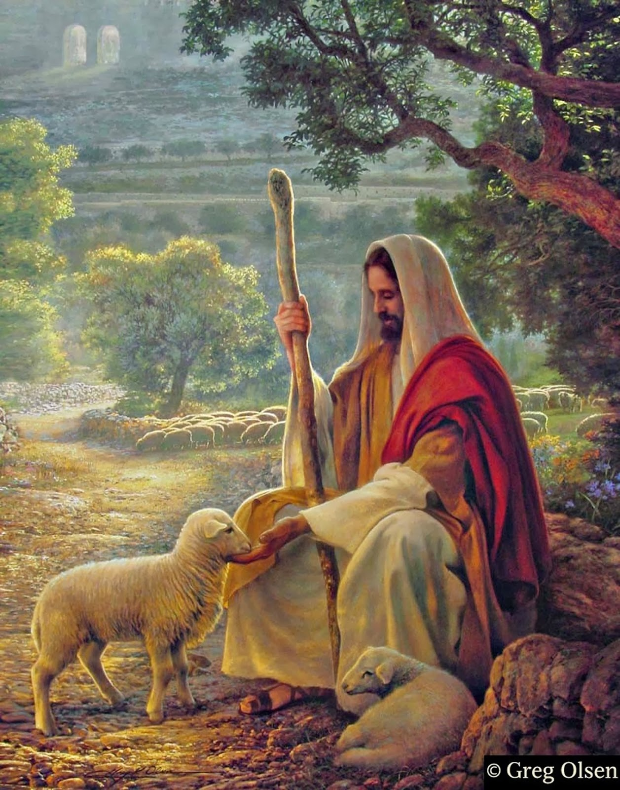 The Lord is my shepherd, I lack nothing.