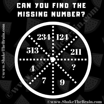 In this Maths Circle Brain Teaser, your challenge is to find the missing numbe which will replace the question mark