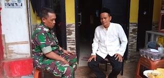 Babinsa Koramil 07/KB Serda Moh Syawal Tamjis Melaksanakan Anjangsana Dan Silaturahmi