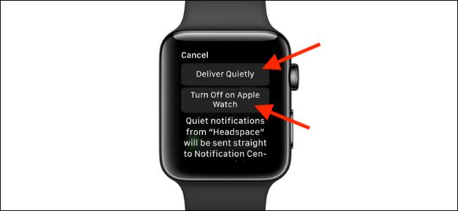 انقر لإيقاف تشغيل الإشعارات على Apple Watch