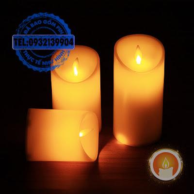 Đèn cầy led tim đèn lắc chất liệu nhựa