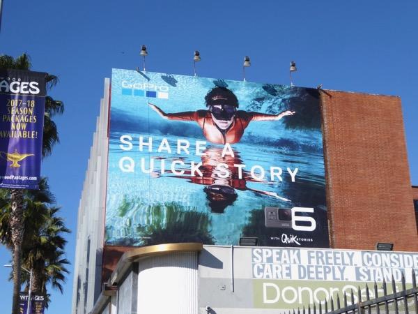 GoPro Hero6 Quik Stories billboard