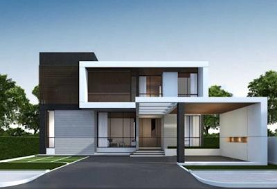 Model atap rumah minimalis atap datar mewah