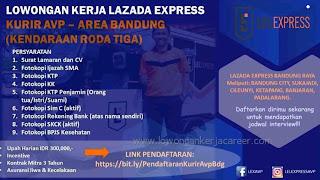 Lowongan kerja kurir Lazada Express Bandung tahun 2020