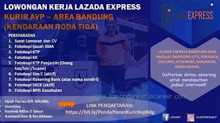 Lowongan kerja kurir Lazada Bandung