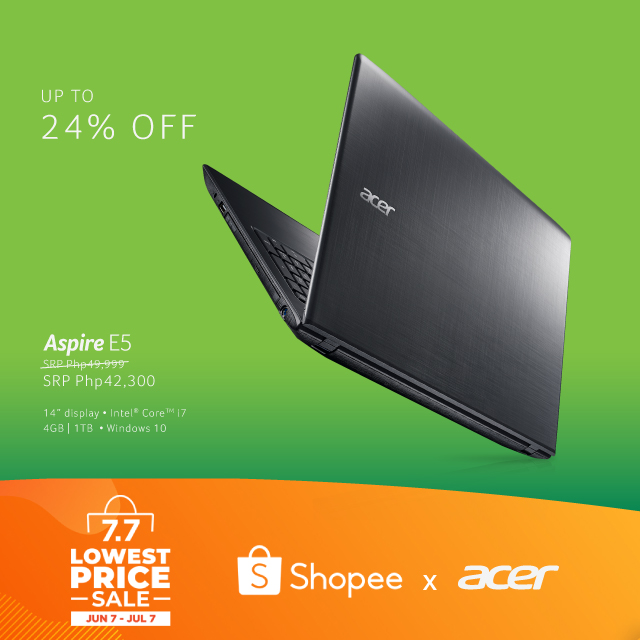 Get As Much As 24% Discount On ACER Products At The SHOPEE 7.7 Lowest Price Sale