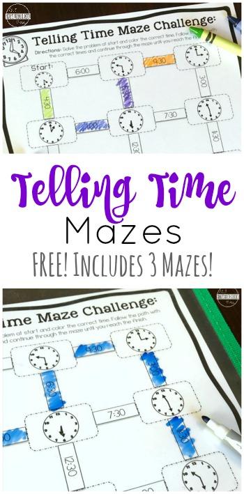 Free telling time mazes ibookread PDF