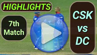 CSK vs DC 7th Match